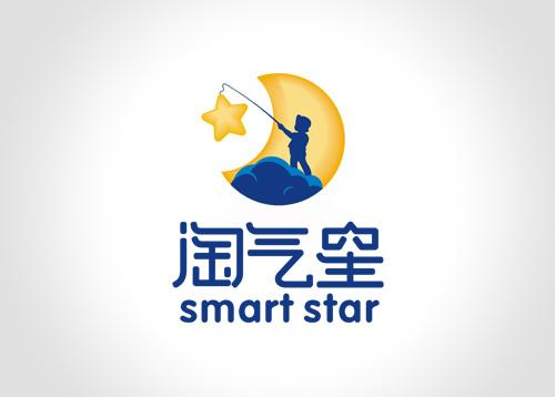 淘气星-儿童教育品牌标志设计